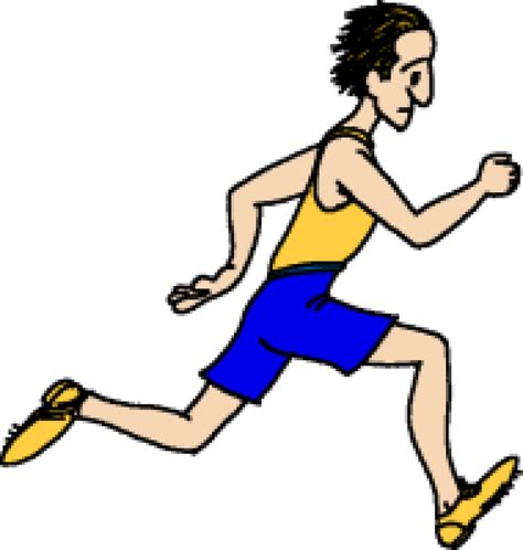 Person Running Clipart running a race