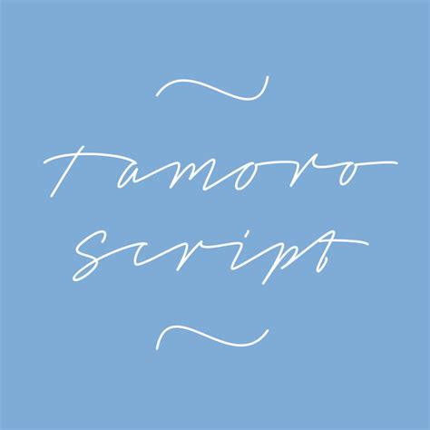 dafont script font tamoro script font dafont com