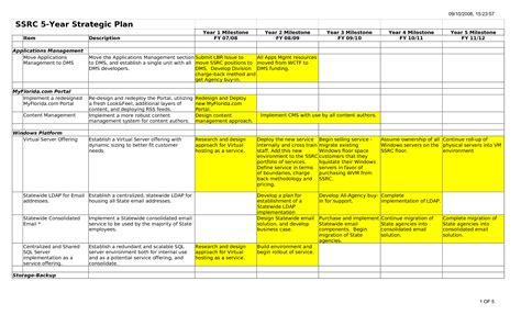 5 Year Plan Template Beepmunk It Strategic Plan Template