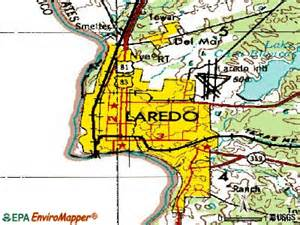 where is laredo on the map laredo map