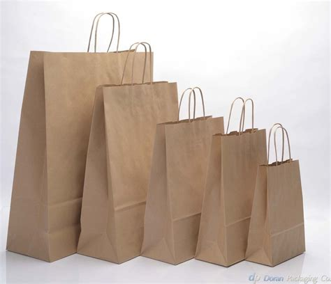 brown kraft paper carrier bags with twisted handles ebay