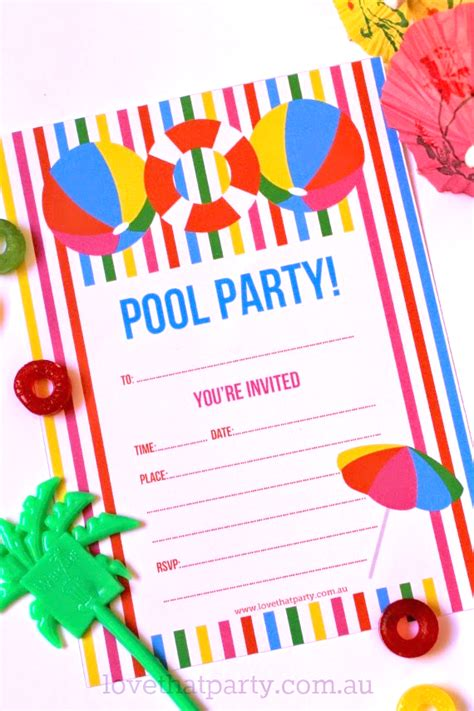 printable invitations pool party free printable summer pool party invitation the girl