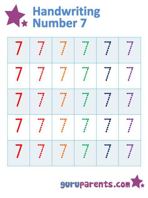 number 7 worksheets number 7 worksheets guruparents