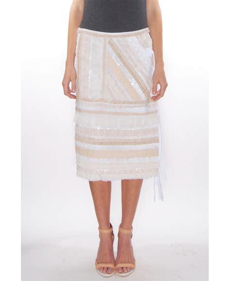 N Bab Skirt Ruffle lyst n 176 21 ruffle stripe skirt in white