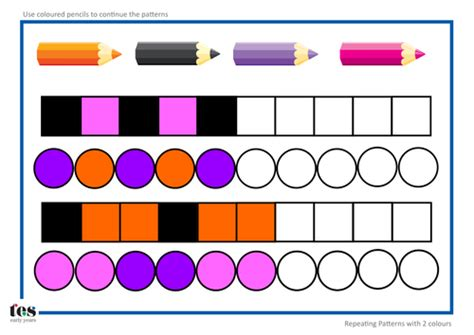 repeating patterns year 1 interactive repeating pattern sequences by tesearlyyears teaching