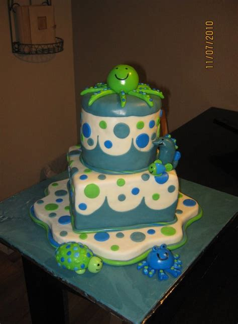 The Sea Cakes For Baby Shower by The Sea Baby Shower Cake Cakecentral