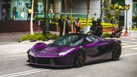 purple laferrari purple laferrari belongs to crown prince of johor