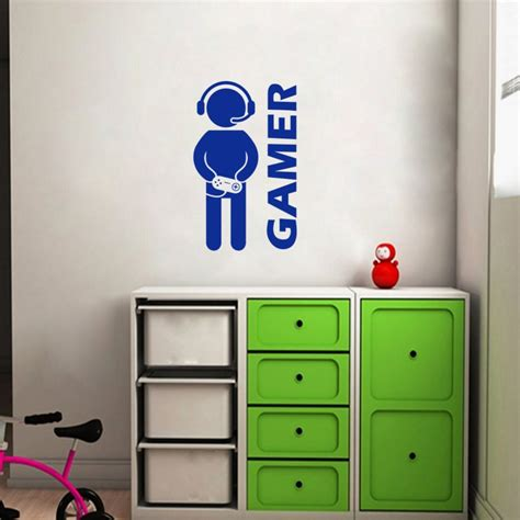 gaming home decor video game gaming gamer wall decal art decor sticker vinyl