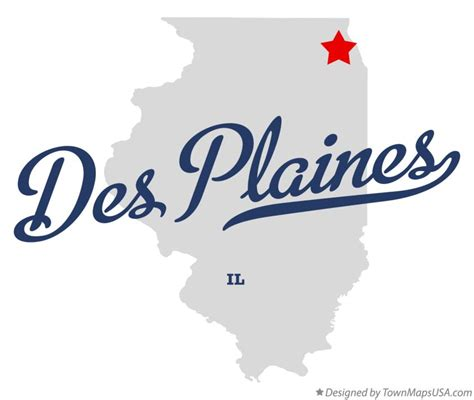 des plaines il map of des plaines il illinois