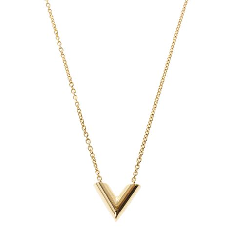 V Necklace louis vuitton essential v necklace buy sell lc
