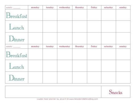 weekly recipe planner template 10 best images about meal planning on recipe