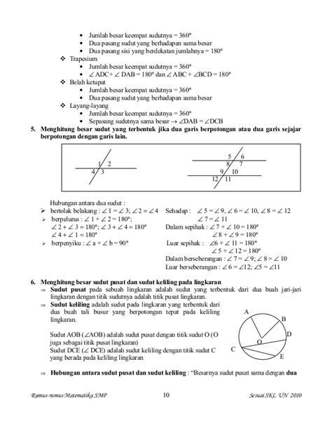 Kumpulan Rumus Fisika Dan Matematika kumpulan rumus matematika smp sesuai kurikulum 2010 lengkap