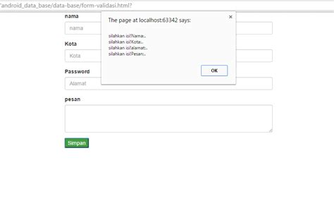 membuat form sederhana dengan html membuat validasi form sederhana menggunakan javascript