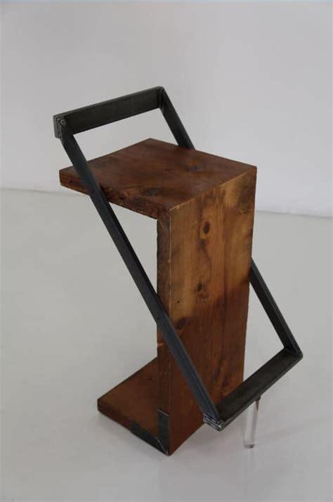 sgabelli di legno sgabello design in legno e metallo idfdesign