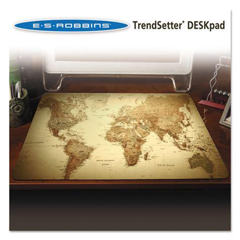 World Map Desk Pad by Trendsetter World Map Desk Pad 24 X 19 Golden