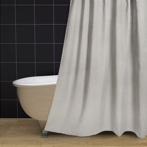 pewter shower curtain couture by commonwealth matelasse branch pattern shower