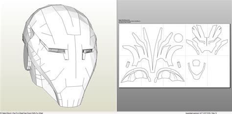 pepakura foam templates 11 images of iron helmet pepakura foam template