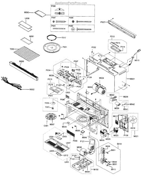 samsung microwave parts diagram parts for samsung smh9187w xaa cabinet parts
