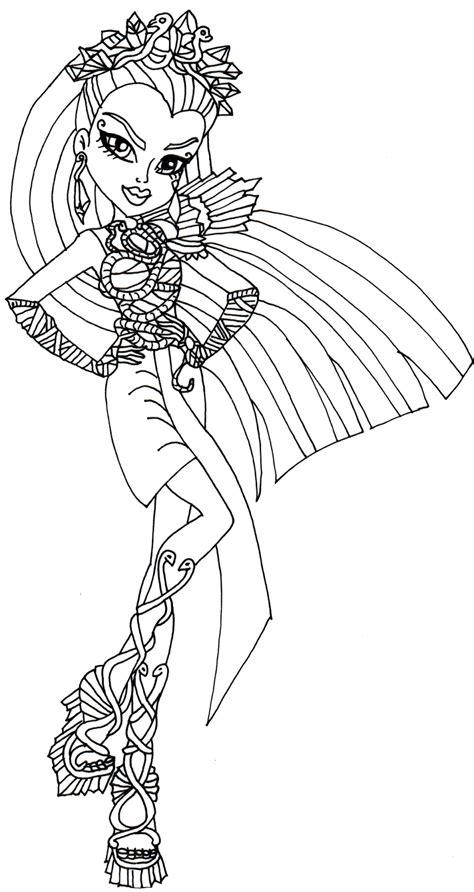 monster high printable coloring pages cleo de nile free printable monster high coloring pages nefera de nile
