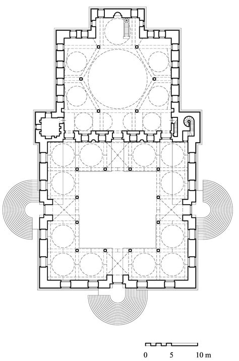 Masjid al-Malika Safiyya | Floor plan of mosque | Archnet