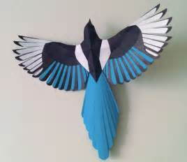 Animal Paper Crafts Templates new paper craft animal paper model magpie free bird