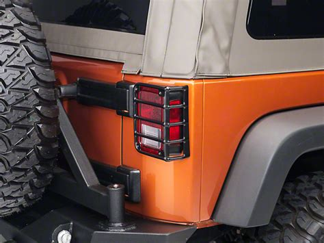 jeep back lights rugged ridge guard rear wrangler light guards black