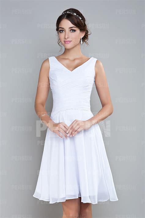 Robe Blanche Simple Pour Mariage - robe courte en dentelle moulante dos d 233 coup 233 pour