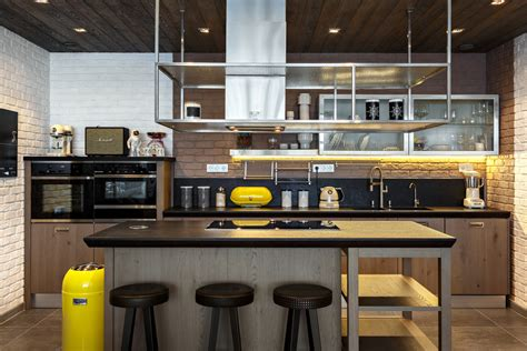 spectacular industrial kitchen designs     hooked   style