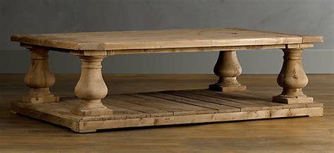 restoration hardware salvaged wood table copy cat chic restoration hardware balustrade salvaged
