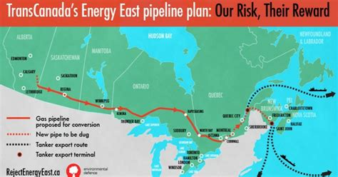 eastern pipeline map energy east tar sands pipeline hits major snag as