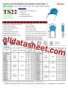 capacitor datasheet pdf ts22 datasheet pdf suntan capacitors
