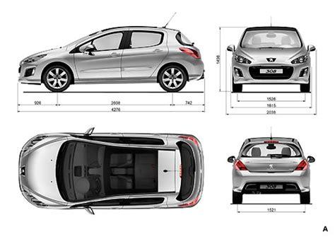 dimensions peugeot 308 la nouvelle gamme peugeot 308 2011 efficace et 233 l 233 gante
