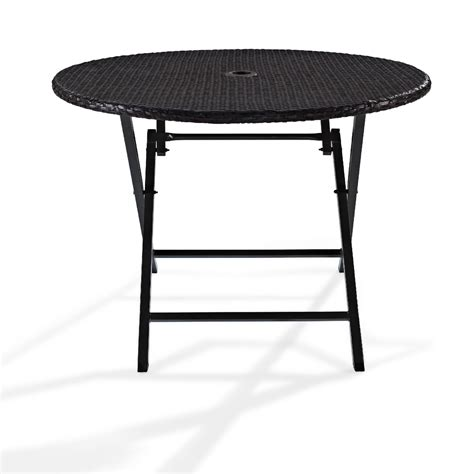 Folding Patio Tables Crosley Outdoor Palm Harbor Outdoor Wicker Folding Table