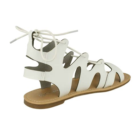 sandals that lace up the leg lace up leg flat gladiator sandals spot on ebay