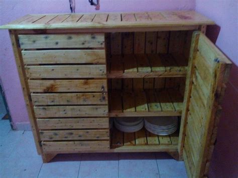 building cabinets out of pallets diy pallet sideboard or kitchen cabinet