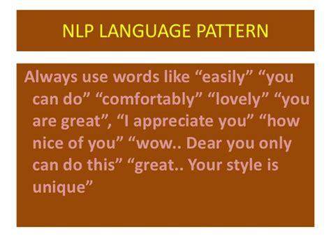 nlp pattern matching nlp lotus