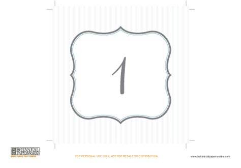 Free Printable Table Number Cards Printable Pages Free Table Number Templates