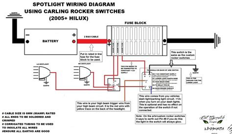 wiring spotlights to high beam hilux wiring diagram with
