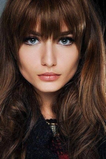 21 amazing hairstyles with bangs pretty designs 20 best collection of full fringe long hairstyles