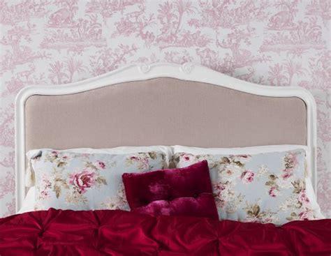 juliette shabby chic antique white upholstered bed