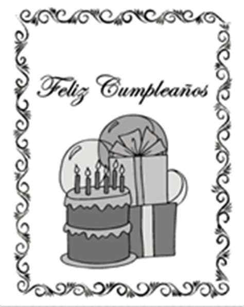 free printable birthday cards espanol free printable spanish greeting cards feliz cumpleaos
