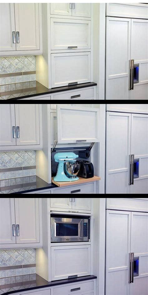 i really could use a kitchen appliance garage or two really like the lift up door for appliances and slide
