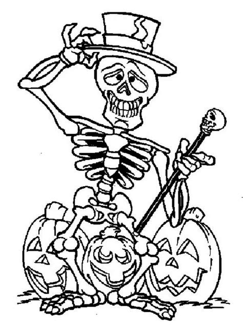 cute halloween skeleton coloring pages coloring pages