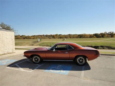 Handgrip Barracuda sell used 1974 plymouth barracuda numbers matching 360 pistol grip 4 speed in fort worth