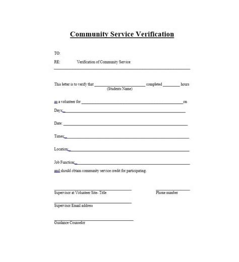Community Service Verification Letter Exle letter of completion image collections cv