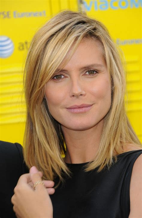 medium haircuts heidi klum styles oscar heidi klum hair