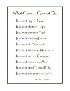 What cancer cannot do poem english pictures