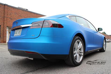 Tesla Aluminum Matte Blue Aluminum Tesla Model S Vehicle Customization