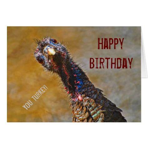 Turkish Happy Birthday Wishes Happy Birthday You Turkey Crazy Card Zazzle