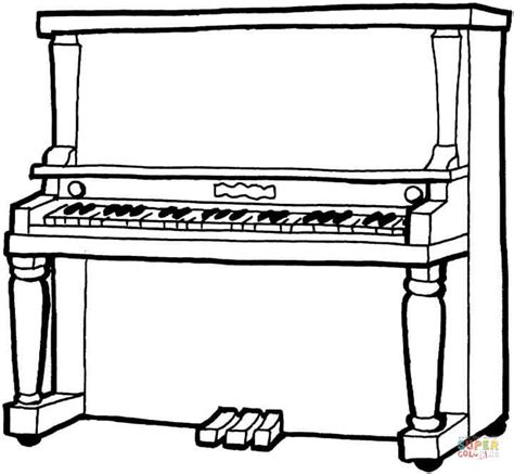 piano coloring pages piano coloring page free printable coloring pages